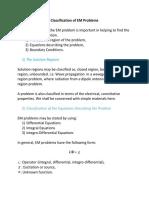 Clasification of EM Problem