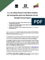 NP- El 2 de mayo la Kosta Trail abre el plazo de inscripción para las Marchas en las tiendas Forum Sport.pdf