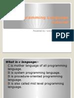 C Programming Languagetutorial