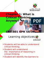 Chapter 1 What is Critical Thinking Anyway