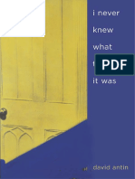 David Antin i never knew what time it was.pdf