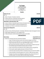 resume tucker 2017