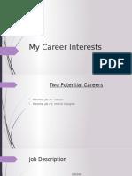 my career interests