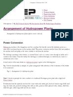 Arrangement of Hydropower Plants _ EEP