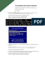 Procedimiento de Instalación Del Sistema Operativo