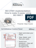 ISO 27001 Implementation_How to Make It Easier Using ISO 9001