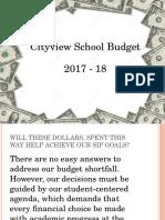 cityview school budget presentation for staff and ilt