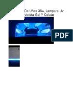 Proyecto Luz Ultravioleta Para El Secado