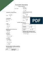 Formulario Geometría