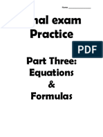 0002 course 3 post test practice part three - equations and formulas