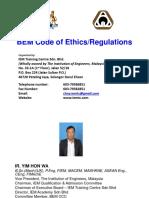 BEM Code of Ethics - Ir. Yim Hon Wa