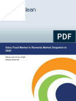 Dairy Food Market in Romania Market Snapshot to 2020