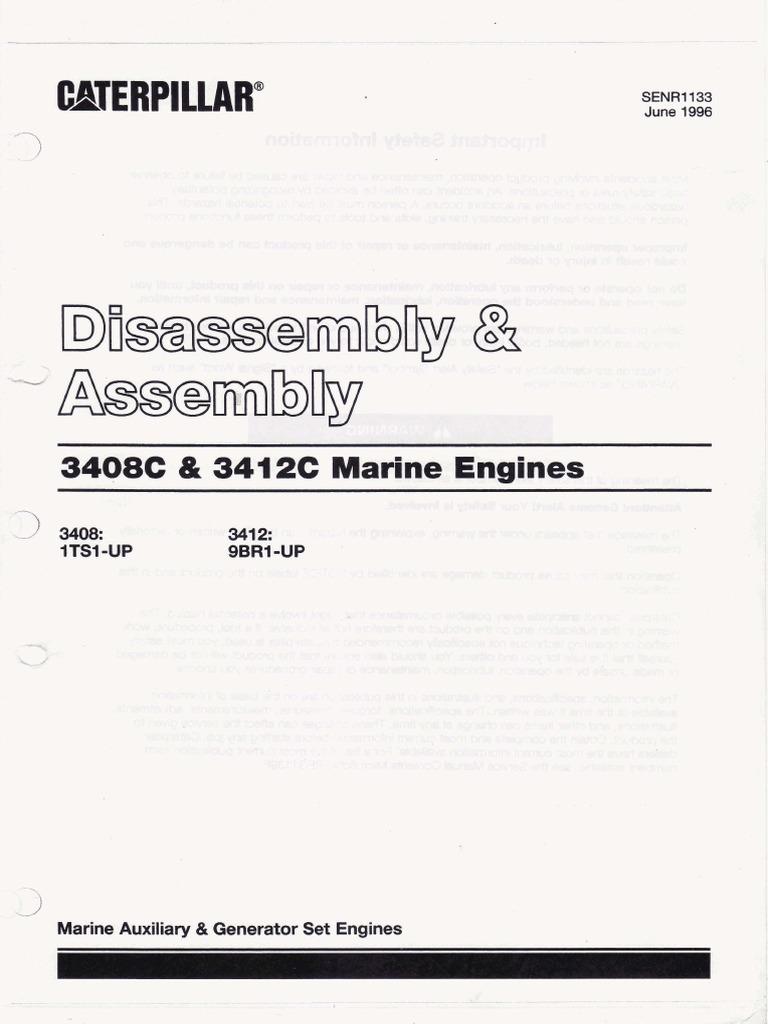 Caterpillar3412 manual Disassembly&Assembly.pdf   Belt (Mechanical)   Nut  (Hardware)