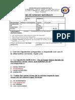 prueba CN unidad 1  4° 2016 CON RESPUESTA