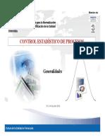 Control Estadistico de Procesos Generalidades