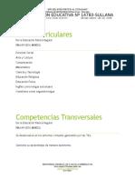 Áreas y Competencias Transv.