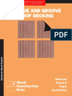 WCD 2 - Tongue and Groove Roof Decking
