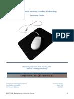 application of behavior modeling methodology704