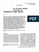Characteristics of Wear Result Tested by Pin on Disc at Moderate to High Speeds