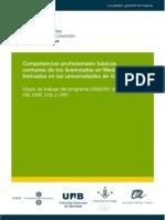 Competencias Profesionales Básicas de Los Lienciados Medicina en Cataluña