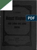 August Klughardt - Sein Leben Und Seine Werke