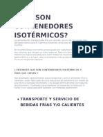Contenedores Isotermicos Para Transporte de Alimentos