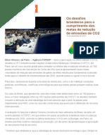 Agência FAPESP _ Os Desafios Brasileiros Para o Cumprimento Das Metas de Redução de Emissões de CO2