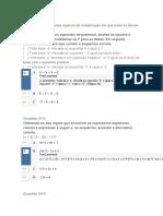 Prova Objetiva de Matematica Basica