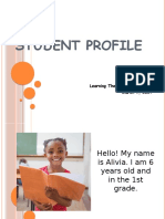 student profile assignment