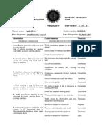 APPENDIX 4 - Candidates Observation Sheet 1