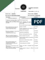 APPENDIX 4 - Candidates Observation Sheet 2
