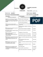 APPENDIX 4 - Candidates Observation Sheet 4