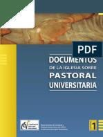Cuaderno 1 Documentos de La Iglesia Sobre Pastoral Universitaria