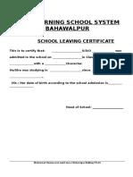 School Leaving Certificate