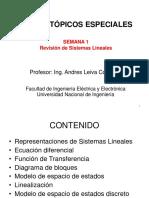 Semana 1-Revisión de Sistemas Lineales