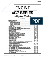 Mitsubishi Pajero Engine 6G7 Series to 2001