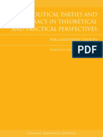 Political Parties and Democracy in Theoretical and Practical Perspectives