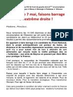 Appel des Elu.es PCF Front de Gauche de la 6ème circonscription au 2nd Tour