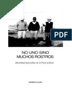 Identidad Masculina en El Peru Urbano EDITADO