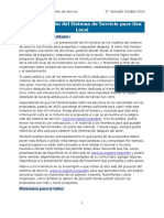 Service System Local Workshop Profile SP
