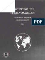 US Technologies a Trend Analysis of Reporting From the Defense Industry Defense Security Service
