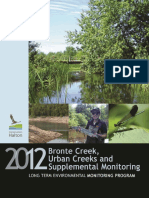 Ch Lemp 2012 Bronte Creek, Urban Creeks and Supplemental Monitoring