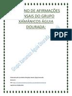 Caderno de Afirmações Xamánicas Grupo Águia Dourada Niteroi