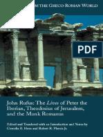 João Rufo_Vidas de Pedro Ibério, Teodósio de Jerusalém e Do Monge Romano