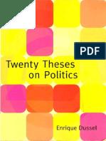 56.Twenty Theses on Politics