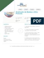 Gratinado de Batata e Alho Francês _ Clube Bebé Nestlé