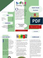 preschool brochure 2017