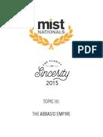 2015 Topic III the Abbasid Empire