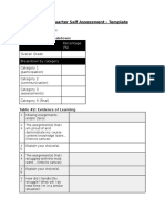 end of quarter self assessment template