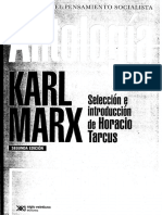 Marx, Karl. Antologìa